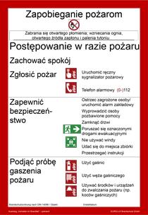 brandschutzordnung din 14096 teil a polnisch - Brandschutzordnung Muster