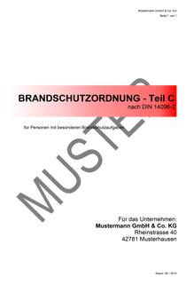 brandschutzordnung din 14096 teil c - Brandschutzordnung Muster